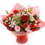 Pink and Red Handtied